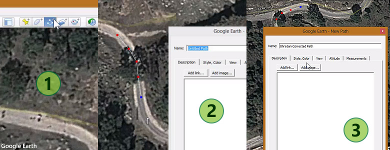 Google Earth Road Drawing