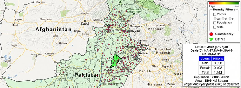 Pakistan Elections Voter Map